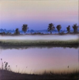 Barbel River at Dusk #1 (original oil painting)